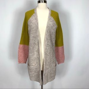 NEW Anthropologie Pepin color block cardigan